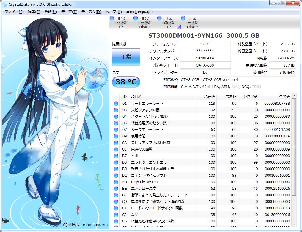 CrystalDiskInfo 5 Shizuku Edition
