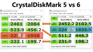 CrystalDiskMark 5 vs 6